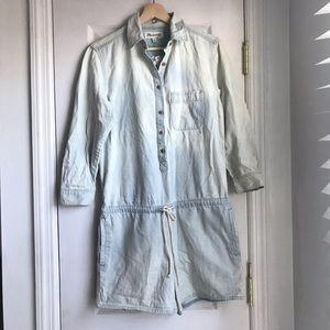 Madewell light blue Cotton 3/4 long sleeve romper